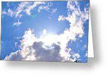 Clouds With Sunshine Greeting Card