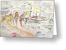 Cloudy Afternoon Greeting Card