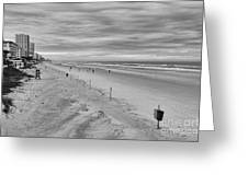 Cloudy Beach Morning Greeting Card