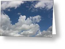 Cloudy Blue Sky Greeting Card