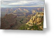 Cloudy Bright Angel Trail  Greeting Card