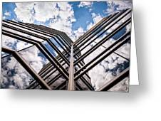 Cloudy Building Greeting Card
