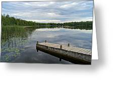 Cloudy Colored Water Greeting Card