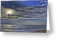 Cloudy Day At The Beach Greeting Card