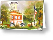 Cloudy Day At The Courthouse Greeting Card