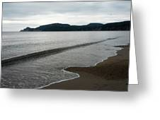Cloudy Day By The Cliffs Greeting Card