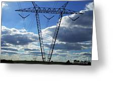 Cloudy Day Electric Grid Greeting Card