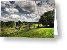 Cloudy Day In The Country Greeting Card