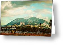 Cloudy Day On Mt Diablo In San Francisco Bay Area Greeting Card by Dorothy Walker