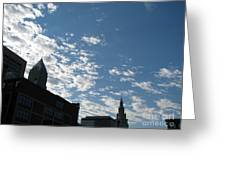 Cloudy In Cleveland Greeting Card