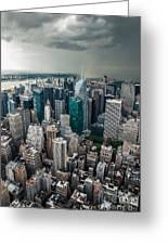 cloudy Manhattan Greeting Card