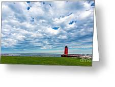 Cloudy Milwaukee Harbor Greeting Card