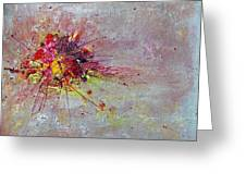Cloudy Monday Abstract Painting Greeting Card