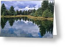 Cloudy Reflection Greeting Card