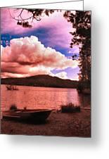 Cloudy Skies Over Scotts Flat Lake Greeting Card
