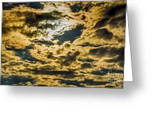 Cloudy Sky Over Calvary Cemetery Greeting Card