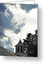 Cloudy Steeple Greeting Card
