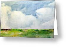 Cloudy Summerday Greeting Card