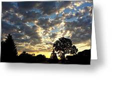 Cloudy Sunrise Greeting Card