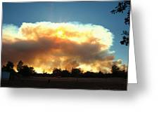 Clover Fire At 5 25 Pm Greeting Card