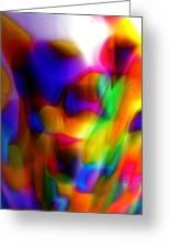 Clown Chakra Nebula Greeting Card