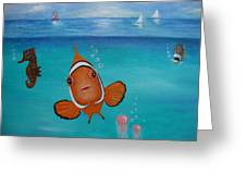 Clown Fish And Friends Greeting Card