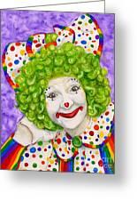 Watercolor Clown #12 Sue Marranconi Greeting Card