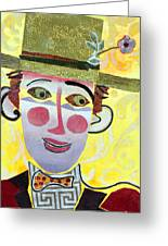 Clowning Around Greeting Card by Diane Fine