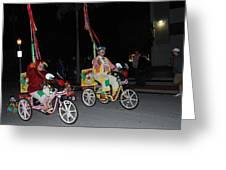 Clowns On Bikes Greeting Card