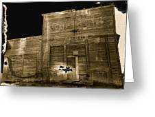 Club Saloon Ghost Town Walcott Wyoming 1971-2010 Greeting Card
