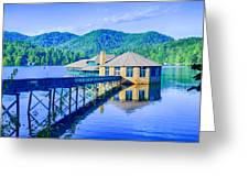Clubhouse On Lake Tahoma Greeting Card