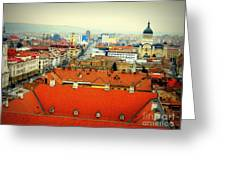 Cluj From Above Greeting Card