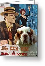 Clumber Spaniel Art - Irma La Douce Movie Poster Greeting Card