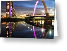 Clyde Arc Twilight Greeting Card