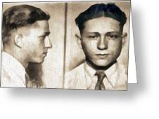 Clyde Barrow Mug Shot Greeting Card