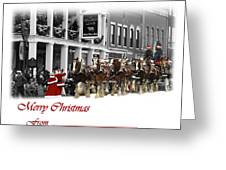 Clydesdale  Team Christmas Card Greeting Card