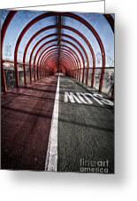 Clydeside Walkway Greeting Card by John Farnan