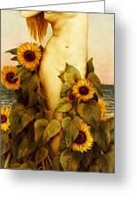 Clytie Greeting Card by Evelyn De Morgan