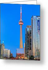Cn Tower By Night Greeting Card