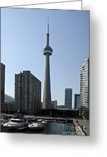 C N Tower Toronto Greeting Card