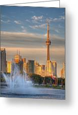 Cn Tower Toronto Greeting Card