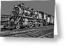 Cnr Number 47 Bw Greeting Card