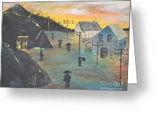 Coal Miners Village Greeting Card