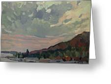 Coast At Sunset Greeting Card by Juliya Zhukova