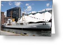 Coast Guard 37 - Baltimore Harbor Greeting Card