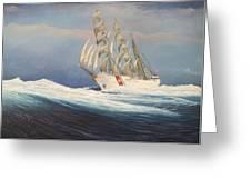 Coast Guard Bark Eagle Greeting Card