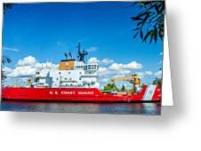Coast Guard Cutter Mackinaw Greeting Card