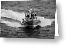 Coast Guard In Black And White Greeting Card
