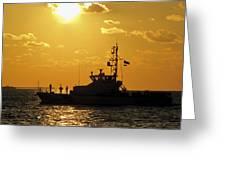Coast Guard In Paradise - Key West Greeting Card