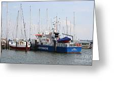 Coast Guard Maasholm Harbor Greeting Card